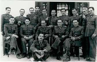 La guarnición del cuartel de la Guardia Civil de La Unión 1947.